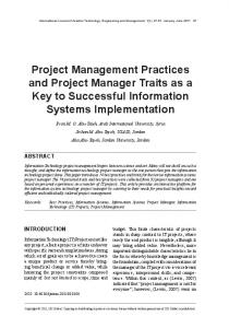 Project Management Practices and Project Manager