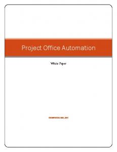 Project Office Automation - Advanced Management Insight