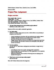 Project Plan Assignment