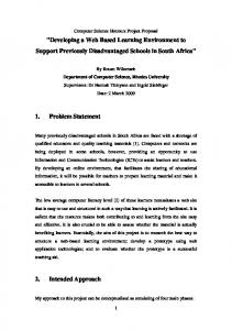Project Proposal - Department of Computer Science - Rhodes ...