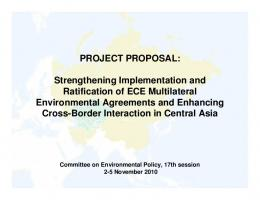 PROJECT PROPOSAL: Strengthening Implementation and ...