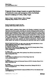 Projected climate change impacts on spatial ...