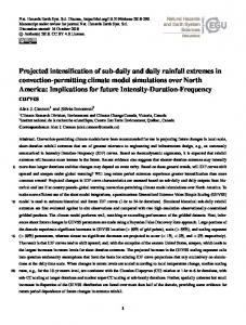Projected intensification of sub-daily and daily rainfall
