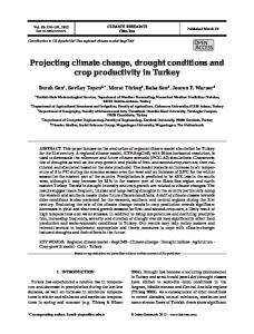 Projecting climate change, drought conditions and crop productivity in ...