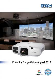 Projector Range Guide August 2013