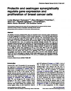 Prolactin and oestrogen synergistically regulate ... - Semantic Scholar