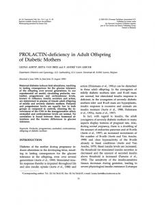 PROLACTIN-deficiency in Adult Offspring - NCBI
