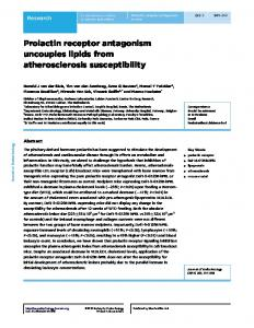 Prolactin receptor antagonism uncouples lipids from atherosclerosis ...