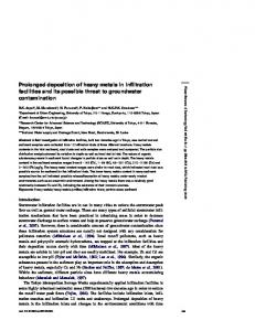 Prolonged deposition of heavy metals in infiltration facilities and its ...
