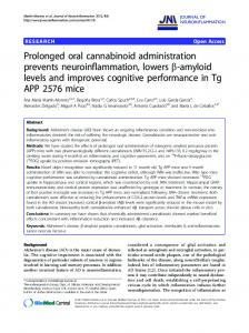 Prolonged oral cannabinoid administration prevents ...