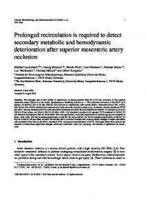 Prolonged recirculation is required to detect secondary ... - IOS Press