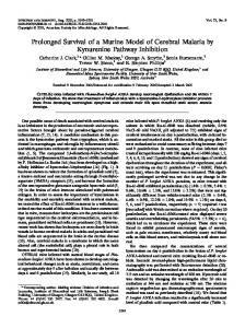 Prolonged Survival of a Murine Model of Cerebral Malaria by ...