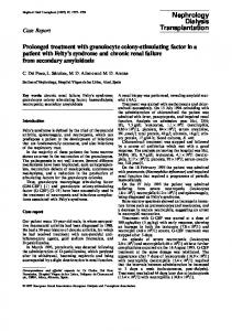 Prolonged treatment with granulocyte colony-stimulating factor in a