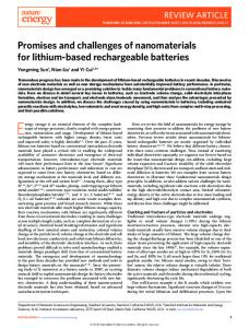 Promises and challenges of nanomaterials for