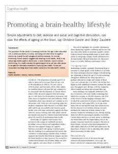 Promoting a brain-healthy lifestyle
