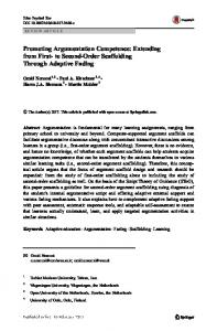 Promoting Argumentation Competence: Extending from First- to ...