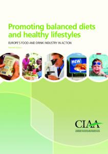 Promoting balanced diets and healthy lifestyles