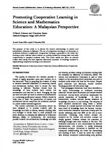 Promoting Cooperative Learning in Science and Mathematics Education