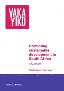 Promoting sustainable development in South Africa