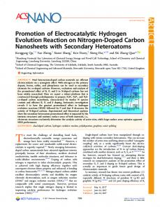 Promotion of Electrocatalytic Hydrogen Evolution ... - ACS Publications