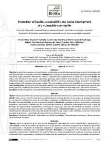 Promotion of health, sustainability and social