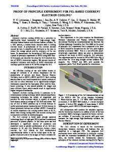 Proof-of-Principle Experiment for FEL-based Coherent Electron Cooling