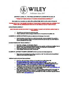 proof of your article attached, please read ... - Wilfried THUILLER