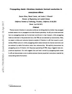 Propagating elastic vibrations dominate thermal conduction in ...