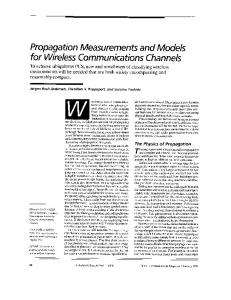 Propagation measurements and models for wireless ...