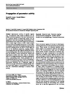 Propagation of pacemaker activity - Springer Link