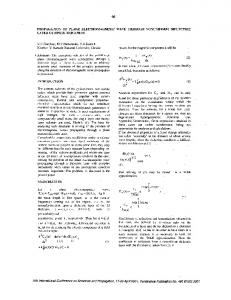 Propagation of plane electromagnetic wave through