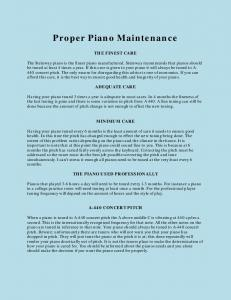 Proper Piano Maintenance - Bill the Piano Tuner