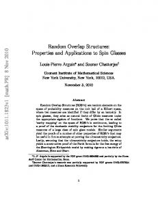 Properties and Applications to Spin Glasses