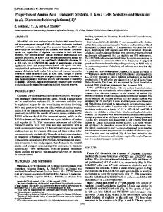 Properties of Amino Acid Transport Systems in ... - Cancer Research