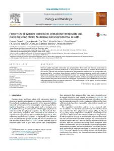 Properties of gypsum composites containing vermiculite and ...