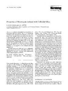 Properties of heterocysts isolated with colloidal silica - Springer Link