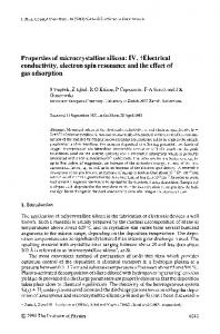 Properties of microcrystalline silicon: IV. ?Electrical ... - CiteSeerX