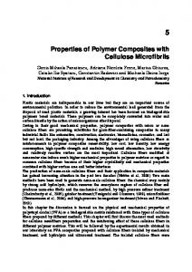 Properties of Polymer Composites with Cellulose Microfibrils