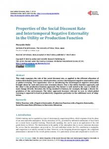 Properties of the Social Discount Rate and Intertemporal Negative ...