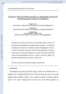 Properties of the Social Discount Rate in a Benthamite Framework ...