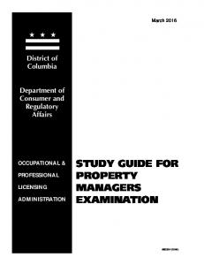 Property Managers Study Guide
