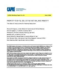 property rights, collective action, and poverty - AgEcon Search