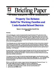 property tax paper - The Keystone Research Center