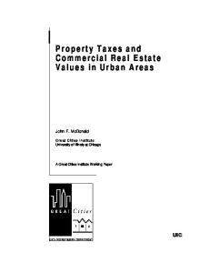 Property Taxes and Commercial Real Estate Values in ... - CiteSeerX