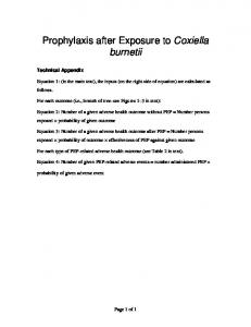 Prophylaxis after Exposure to Coxiella burnetii - CDC