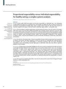 Proportional responsibility versus individual ... - The Lancet