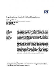 Proportional Service Allocation in Distributed Storage Systems