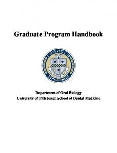 Proposal for a Doctorate Degree in Oral Biology