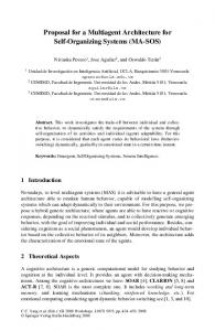 Proposal for a Multiagent Architecture for Self