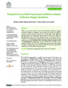 Proposal of a non-lethal visual census method to ... - SciELO Colombia